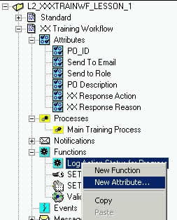 Create attributes to pass parameters to WF Function
