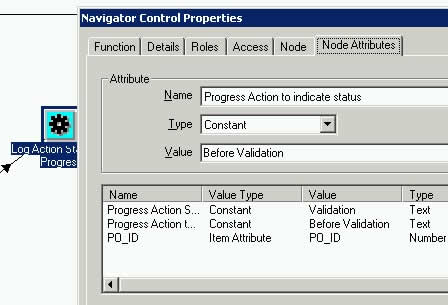 Pass parameter value for Action Status