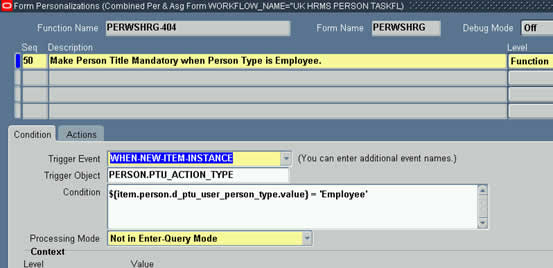 Check if Person Type is Employee in When New Item Instance
