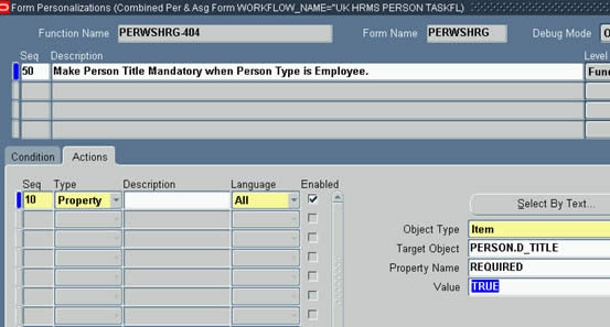 Make Title mandatory when Person Type is Employee