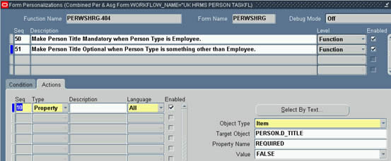 Make Title option when Person Type is not Employee